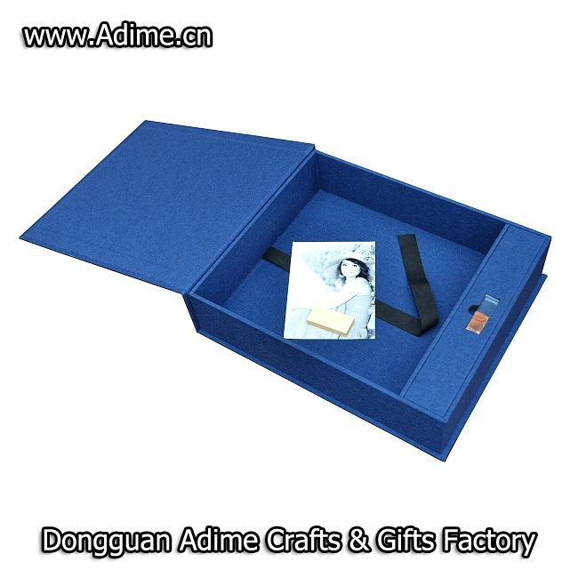 Linen Photo Album USB Box