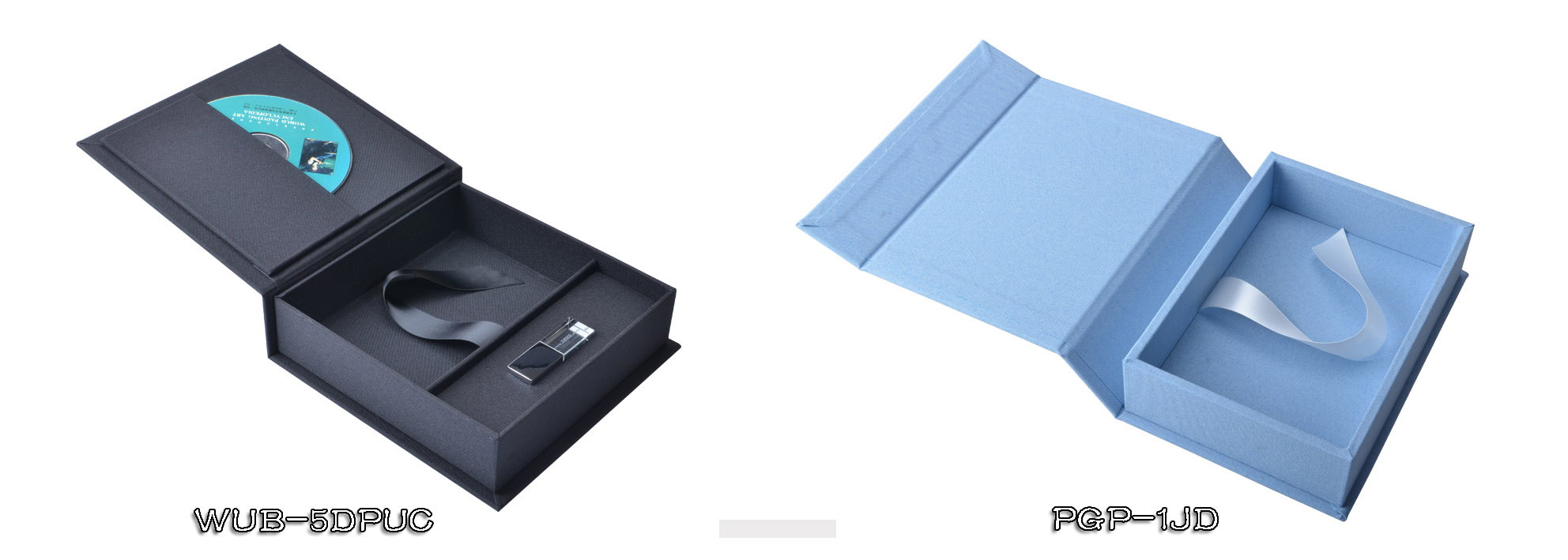 Linen DVD Photo Prints USB Stick Packaging Box