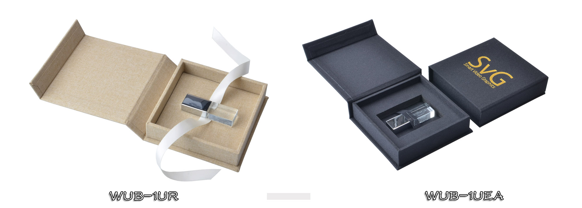 Fabric Linen USB Pen Drive Box Wedding