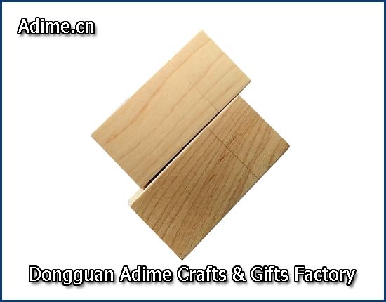 Matched Wood Grain USB pen drive