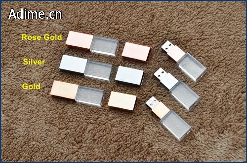 glass crystal USB flash drive
