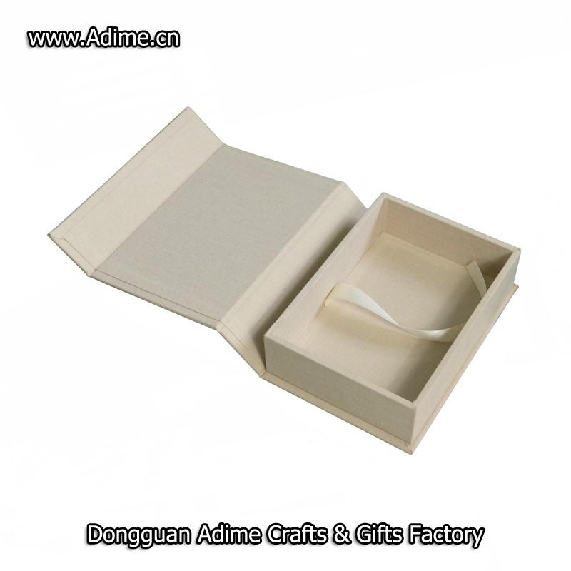 wedding fabric linen album box