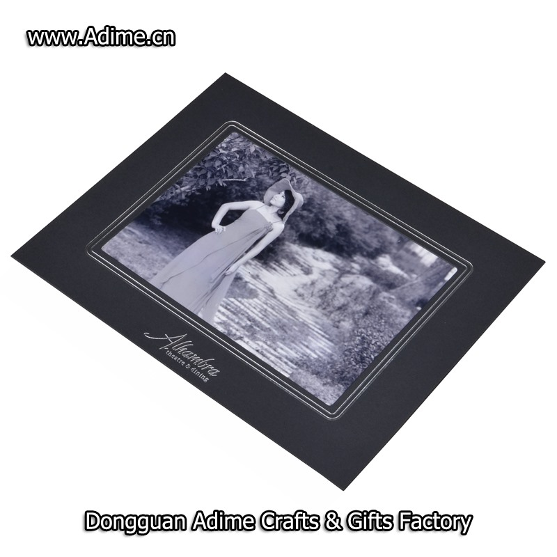 4x6 white horizontal paper photo folder