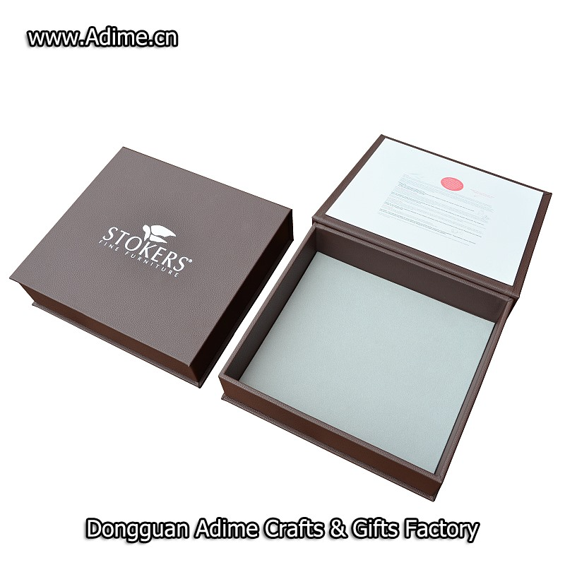 Leather wedding photo album box