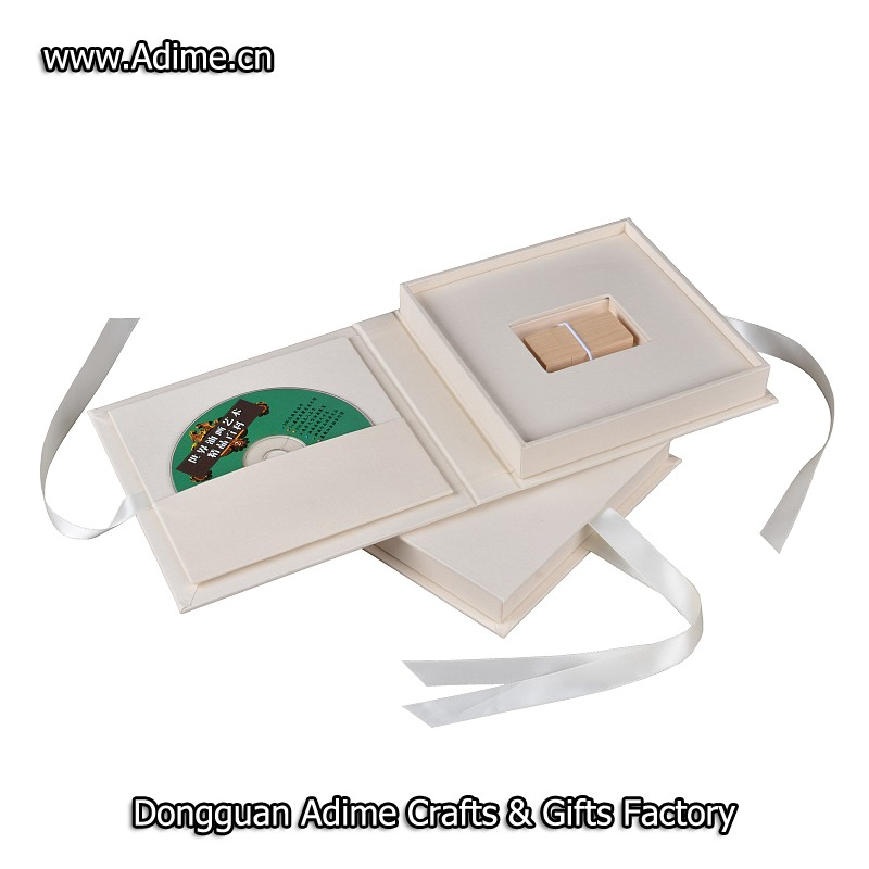 linen DVD USB Gift Box