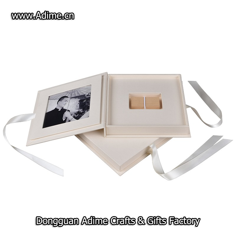 wedding Linen Photo USB Gift Box