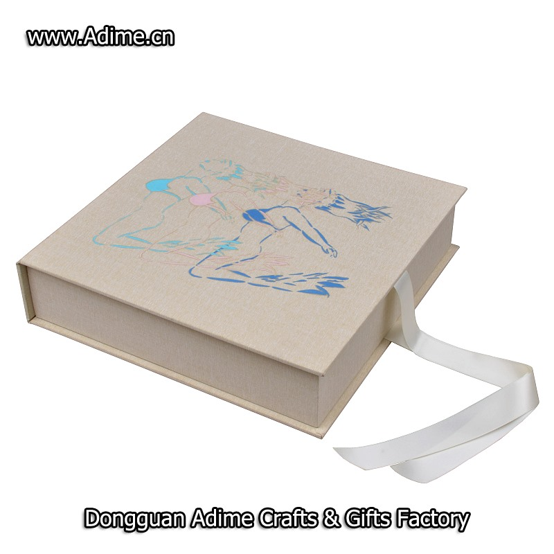 Ribbon Album Packaging Box for photographer