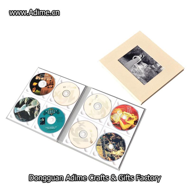 Linen Multiple CD DVD Folio